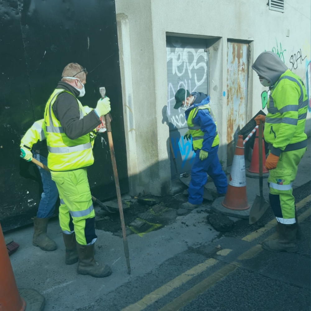Keeping water flowing for Dublin. The team pictured here from the municipal employees branch are working hard to ensure that vital services, such as water, are available to homes.